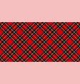 royal stewart tartan plaid argyle pattern vector image vector image