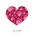 ruby heart silhouette pattern frame vector image