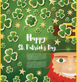saint patricks day background with clover leaves vector image vector image