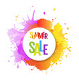 sale banner with color text with blobs vector image vector image