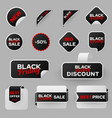 sale promo offers label templates set vector image vector image