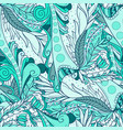 Seamless patterns with abstract waves and leaves