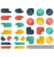set blank colorful stickers and tags vector image