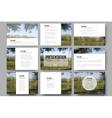 Set of 9 templates for presentation slides Nature vector image