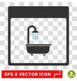 Shower Bath Calendar Page Eps Icon vector image vector image