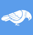 Simple white pigeon dove vector image