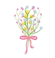 Spring wild flower bouquet vector image vector image