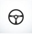 steering wheel icon vector image vector image