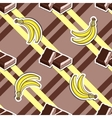 Striped Background Chocolate Banana vector image vector image