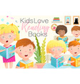 study how to read banner design kids boys vector image