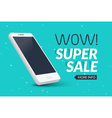 Super sale phone banner Mobile clearance sale vector image vector image