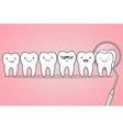 teeth check at dentist vector image vector image