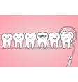 Teeth check at the dentist vector image