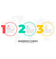 three steps modern infographic banner vector image vector image