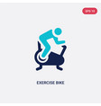 two color exercise bike icon from gym and fitness vector image vector image
