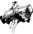 Woman dancing marinera