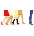 womens leg dots vector image vector image