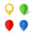 Flat paper map pin vector image
