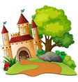 a medieval castle scene vector image vector image