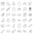 air icons set outline style vector image vector image
