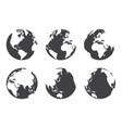 all side around the world flat design vector image