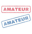 amateur textile stamps vector image vector image