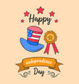 art independence day doodle style vector image vector image