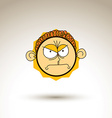 artistic colorful drawing of angry person face vector image vector image