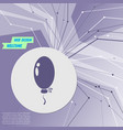 balloon icon on purple abstract modern background vector image vector image