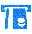 Bank Card Terminal Grainy Texture Icon vector image vector image