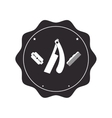 barber shop emblem icon vector image vector image