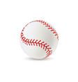 baseball ball realistic sport equipment for game vector image vector image
