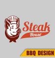 bbq pig sh logo image vector image vector image
