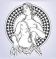 beautiful greek goddess the mythological heroine vector image