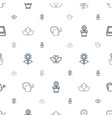 botanical icons pattern seamless white background vector image vector image