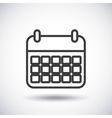 Calendar Silhouette icon design graphic vector image vector image
