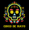 cinco de mayo greeting card vector image vector image