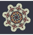 Colorful mandala over gray background Vintage vector image