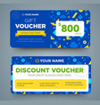 discount voucher template with colorful pattern vector image vector image