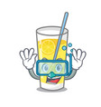 diving lemonade character cartoon style vector image