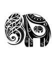 Elephant shape ornament vector image