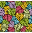 Endless background with colorful leaves vector image
