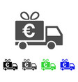 euro gift delivery icon vector image vector image