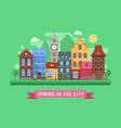 europe spring street landscape vector image vector image