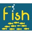 Fish figure design vector image vector image