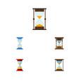 flat icon sandglass set of loading waiting vector image