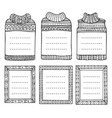 frames in shapes jumpers and rectangular vector image vector image