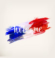 french national flag vector image vector image
