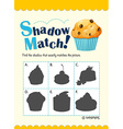 Game template with shadow matching muffin vector image vector image