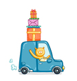 Gifts delivery vector image vector image